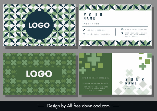 business card templates symmetric repeating geometric shapes decor