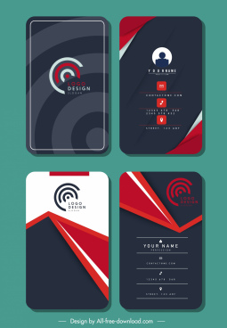 business card templates vertical technology design