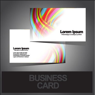 business cards abstract design vector set