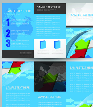 business cards and brochure covers design vector