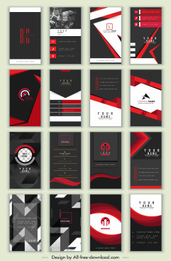 business cards templates collection dark elegant abstract design