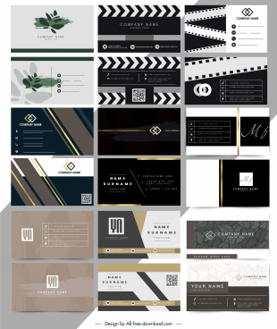 business cards templates colored modern decor