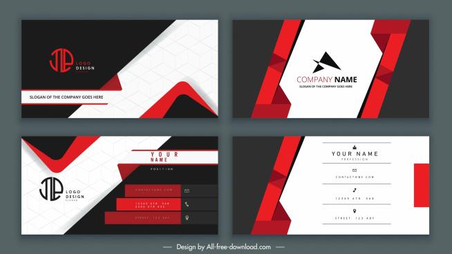 business cards templates elegant luxury contrast decor