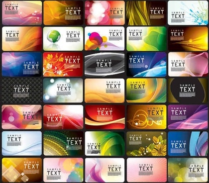 Business Cards Templates Vector Graphics