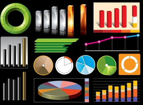 business chart design elements colorful modern design