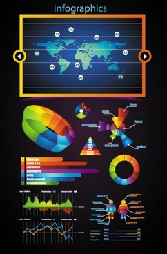 business data elements 02 vector