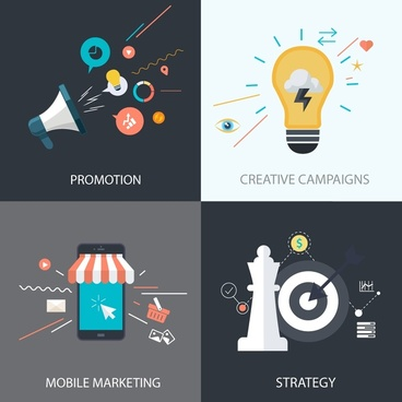 business development concepts isolated with marketing elements