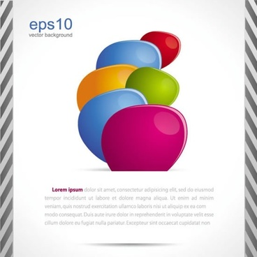 business droplets pattern vector