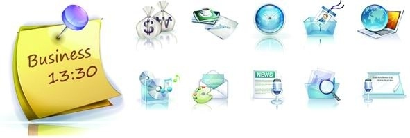 business exquisite 3d vector 1