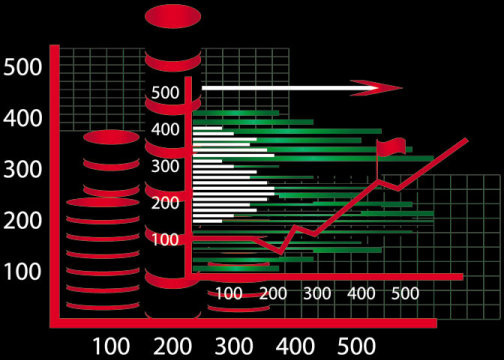 business figure on k line vector