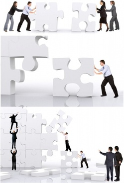 business figures puzzle definition picture