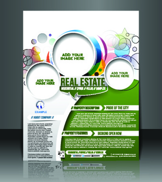 business flyer and brochure cover design vector