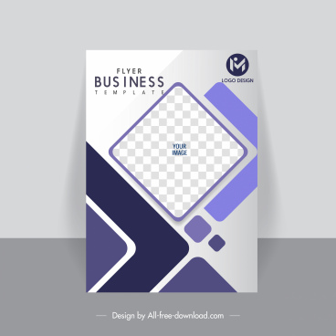 business flyer cover template geometric checkered elegant modern