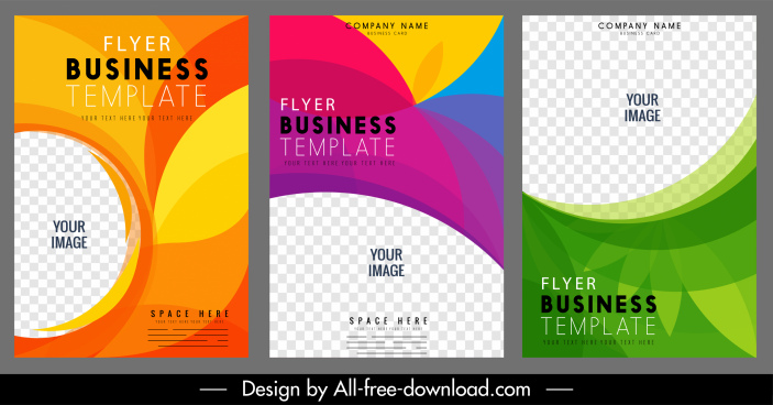 business flyer cover templates colorful modern dynamic decor