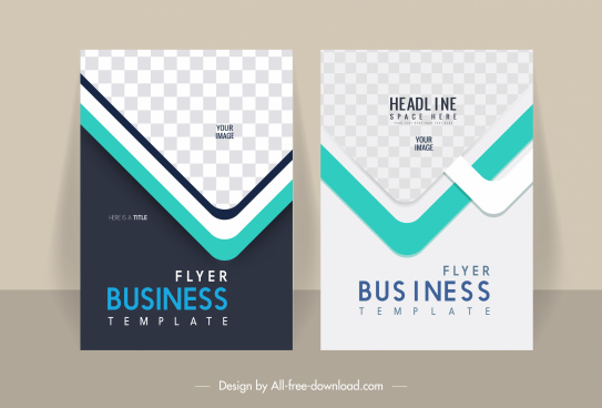business flyer cover templates elegant modern checkered decor