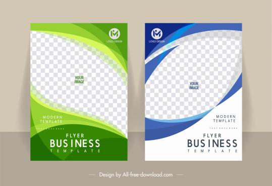business flyer cover templates modern elegant checkered decor