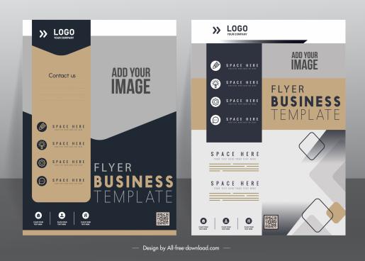 business flyer cover templates modern elegant decor