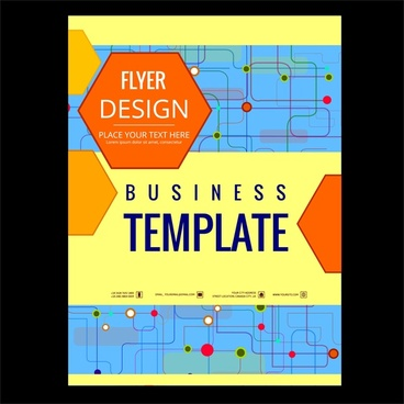 business flyer design template points connection style