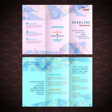 business flyer design with modern abstract style