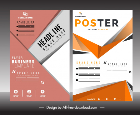 business flyer poster template abstract modern decor