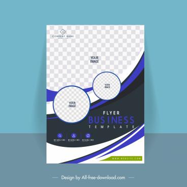 business flyer template checkered decor elegant modern contrast