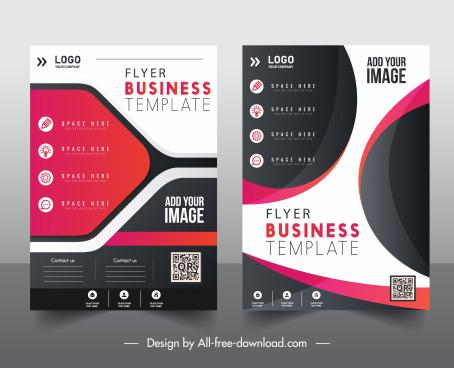 business flyer template contrast elegant modern decor