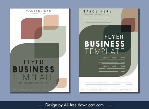 business flyer template elegant blurred geometric decor