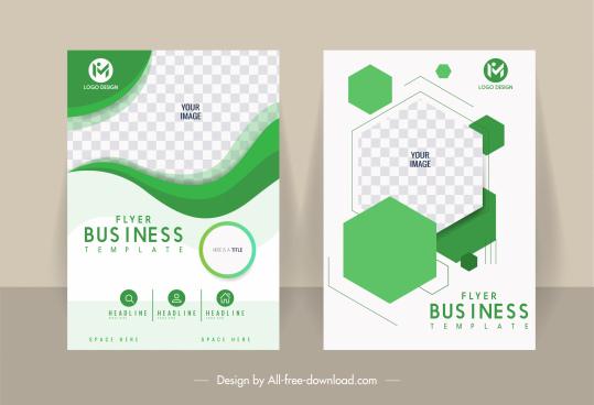 business flyer template elegant bright geometric checkered decor
