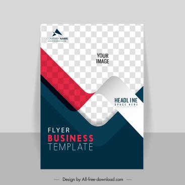 business flyer template elegant checkered 3d effect