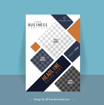 business flyer template elegant geometric checkered decor