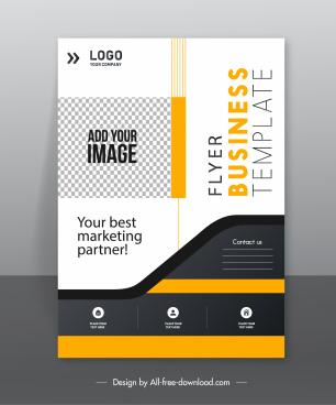 business flyer template elegant modern bright design