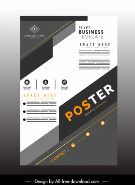 business flyer template modern flat design