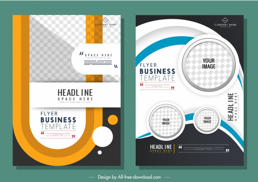 business flyer templates dynamic colorful modern decor