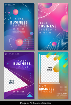 business flyer templates dynamic design colorful modern decor
