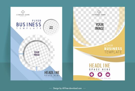 business flyer templates elegant bright modern checkered decor