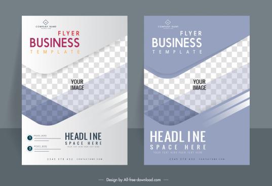 business flyer templates elegant checkered decor modern design