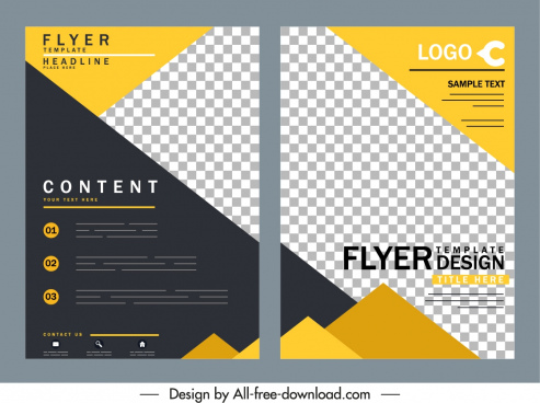 business flyer templates elegant colored checkered decor
