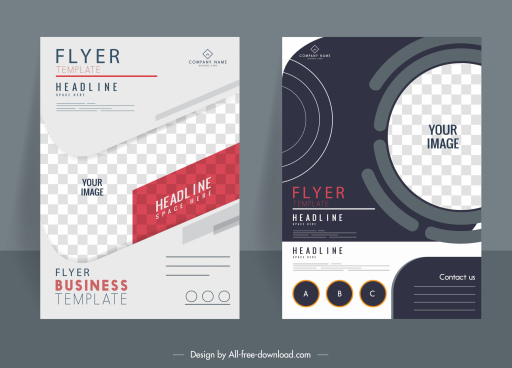 business flyer templates elegant modern checkered decor