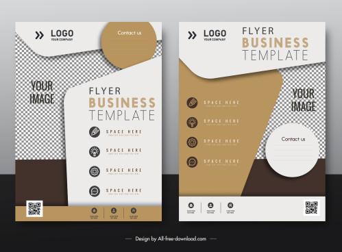 business flyer templates elegant modern checkered decor