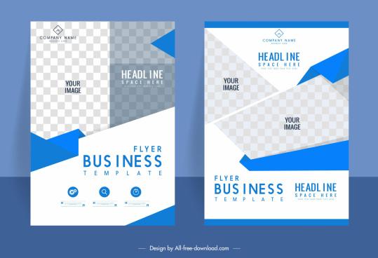 business flyer templates modern elegant bright checkered decor