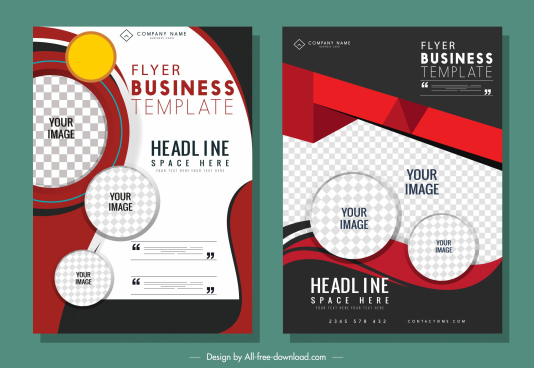 business flyer templates modern elegant checkered decor