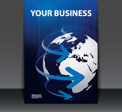 business flyer with planet design vector
