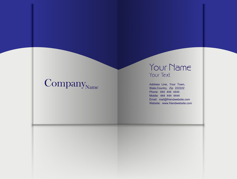 business fold flyer professional template with corporate brochure or card presentation design