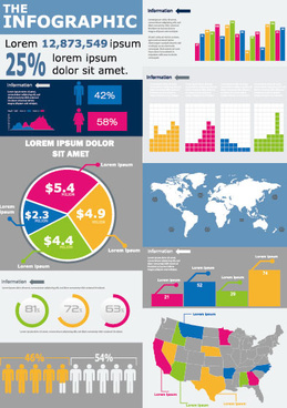 business graphic data report vector set