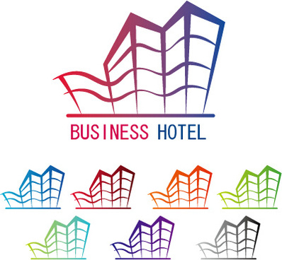 Business Hotel Logos Design Vector