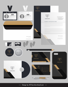 business identity sets elegant black white contrast decor