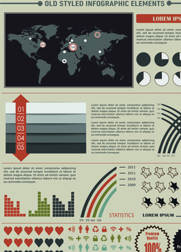 business infographic and diagram vector graphics