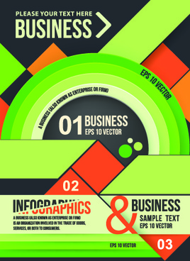 business infographic brochure cover vector