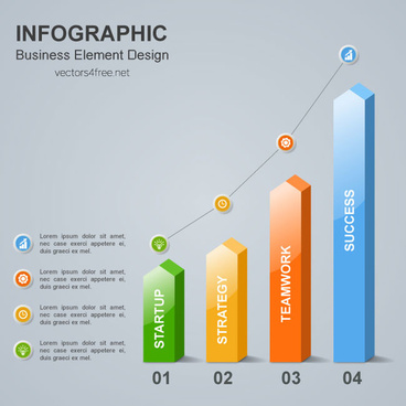 business infographic design element vector with place for your text and icons adobe illustrator ai cs6