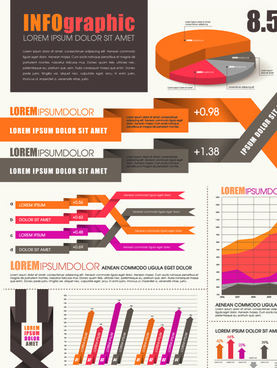 business infographic design elements vector